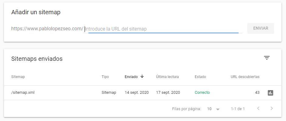 sitemap de google search console
