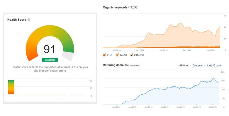resultados de una auditoria web
